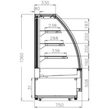Interlevin LPD Curved Range Chilled Display Cabinet