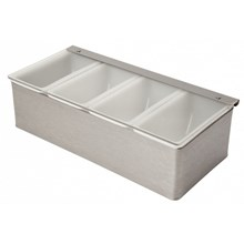 Beaumont Stainless Steel Condiment Holder 4 Compartment | 4 Compartment Condiment Holder