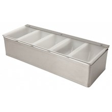 Beaumont Stainless Steel Condiment Holder 5 Compartment | 5 Compartment Condiment Holder