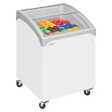 Tefcold NIC100 Sliding Curved Glass Lid Chest Freezer