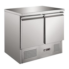 Ice-A-Cool ICE3801GR 2 doors refrigerated counter fridge