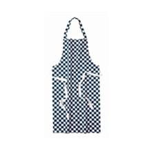 Whites Chef Clothing A554 Bib Apron Polycotton Blue/White Check Chef Clothing Ap