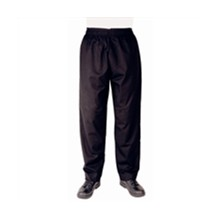 Whites Chef Clothing A582-M Vegas Chefs Trousers Black Polycotton - Size M Chef