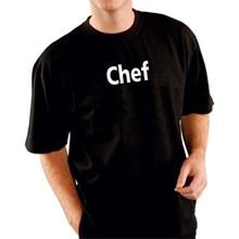"Kitchen Chef Team T-Shirt Black Size S fit 36""-38"""