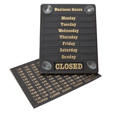 Beaumont B192 Hours of Business Open Closed Sign