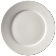 "12x Athena CC207 8"" Wide Rimmed Plates Crockery"