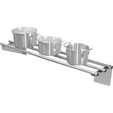 Vogue CD551 Stainless steel wall shelf 1200mm