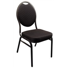 4x Bolera CE142 Black Oval Back Banqueting Chairs Furniture