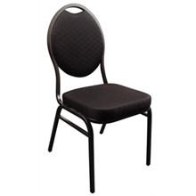 4x Bolera CE142 Black Oval Back Banqueting Chairs Furniture