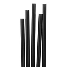 Fiesta Short Black Cocktail Stirrer Straws