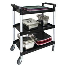 Vogue CF102 Polypropylene Mobile Trolley Large (Black)