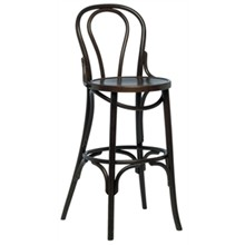 2x Bolera CF141 Walnut Bentwood Bistro High Stool Furniture