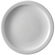 "12 x Athena CF364 10""/250mm Narrow Rimmed Plates Crockery"