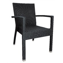 4x Bolera  wicker Armchair Charcoal (Pack of 4)