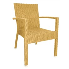 4x Bolera wicker armchair Natural (Pack of 4)