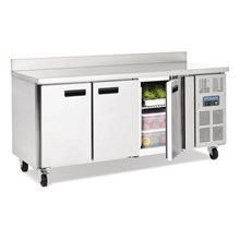 Polar DL915 Counter 3 Door Fridge with Upstand 417 Ltr