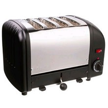 Dualit E266 4 Slot Bread Toaster Black standard finish 4 slot