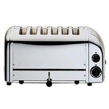 Dualit E972 6 Slot Bread Toaster Stainless Plus finish 6 slot