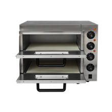 MODENA MP2 STONE BASE TWIN DECK ELECTRIC PIZZA OVEN - COOKS 2 X 16 INCH ELECTRIC