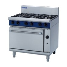 F245-N Blue Seal Natural 6 Burner Gas Ranges