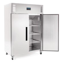 Polar G595 Double Door Freezer Stainless Steel 1200Ltr