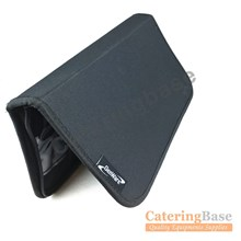 Genware Knife Wallet Case Chef Knives Roll 7 Slot Compartments Black Wipe Clean | 7 Slot Knives Wallet