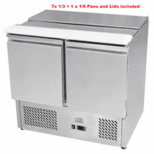 Ice-A-cool ICE3800GR 2 Door Sliding Lid Saladette Counter