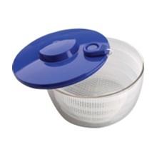 Vogue J727 2.5Ltr Salad Spinner Clear Polycarbonate Bowl Utensils