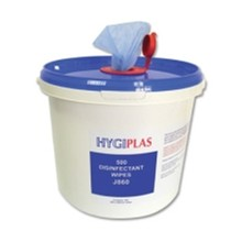Hygiplas J860 500 Wipe Tub Probe and Surface Wipes Utensils