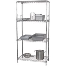 "Vogue L928 4 Tier Wire Shelving Kit. 457mm (18"") depth"