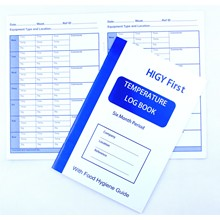 HYGI FIRST Kitchen Temperature Log Book 6 Months Fridge Freezer | Fridge Freezer Temperature Boo
