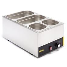 Buffalo S007-CB Wet Heat Bain Marie With Pans | Wet Heat Bain Marie with Pans