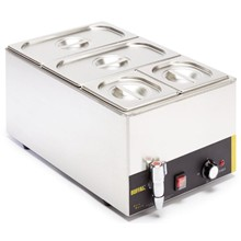 Buffalo Bains Marie with Tap and Pans | Wet Heat Bain Marie