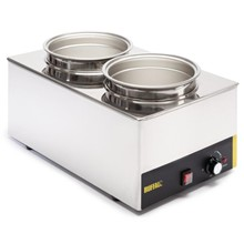 Buffalo S077 Bain Marie with Round Pots | Wet Heat Bain Marie with Pans