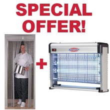SPECIAL OFFER S331 Chain Door Fly Screen And Fly Killer Combo