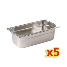 Vogue S407 Gastronorm Container Kit 5x 1/4