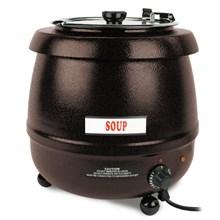 Thunder Stainless Steel Black Soup Kettle - 10.5 Litre | Commercial Soup Warmer Kettle