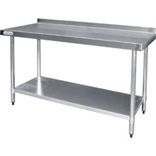 Vogue T380 Stainless Steel Prep Table With upstand 900mm