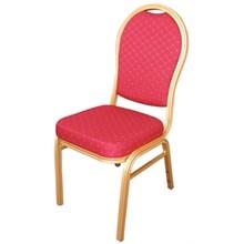 4x Bolera U525 Red Arched Back Banqueting Chairs Furniture