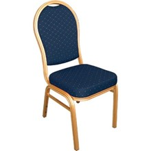 4x Bolera U526 Blue Arched Back Banqueting Chairs Furniture