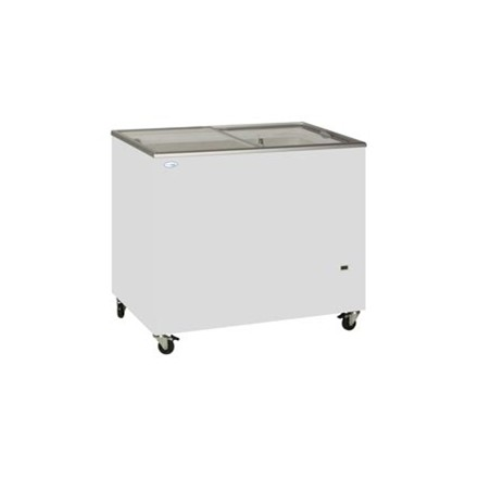 Tefcold IC500SC Sliding Flat Glass Lid Chest Freezer