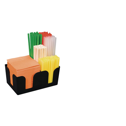 Tablecraft Plastic Classic Bar Caddy Black