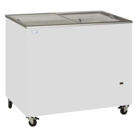 Tefcold IC400SC Sliding Flat Glass Lid Chest Freezer
