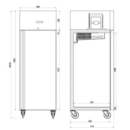 Tefcold RK505 Range Solid door Refrigerator