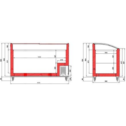 Tefcold NIC SCEB Range Sliding Curved Glass Lid Chest Freezer