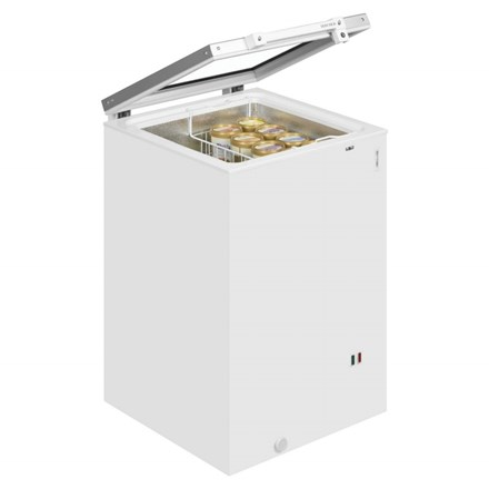 Interlevin ST160 Hinged Glass Lid Chest Freezer