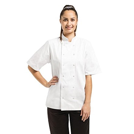Whites Chefs Clothing Apparel A211-L Vegas Chef Jacket, Short Sleeve, White