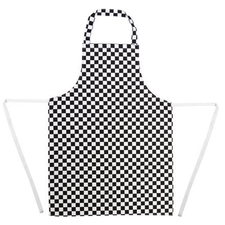 Whites Chef Clothing A275 Bib Apron Polycotton Black/White Check