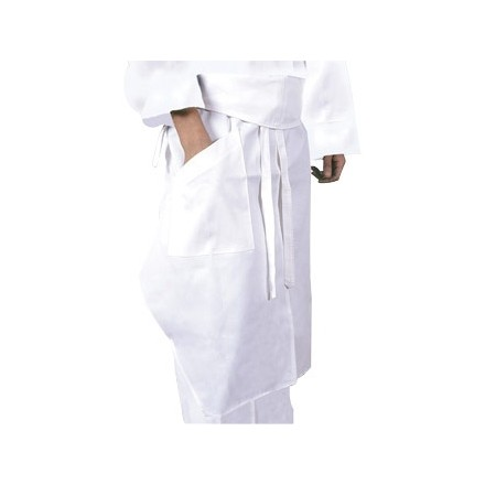 A576 Executive Chefs Tapered Apron - White
