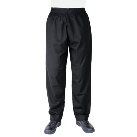Whites Vegas Chef Trousers Polycotton Black - XS